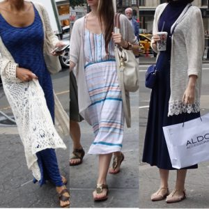 How not to wear a long cardigan