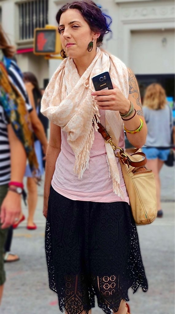 Summer scarf street style, 2