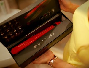 Irresistible Me flat iron in a nice box