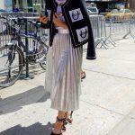 Metallic skirt for the Jeremy Scott fashion show