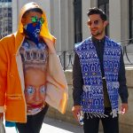 Fun street style for the Jeremy Scott show, 2