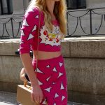 Cartoonish street style at the Jeremy Scott show