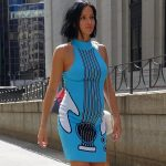 Guitar dress for the Jeremy Scott show