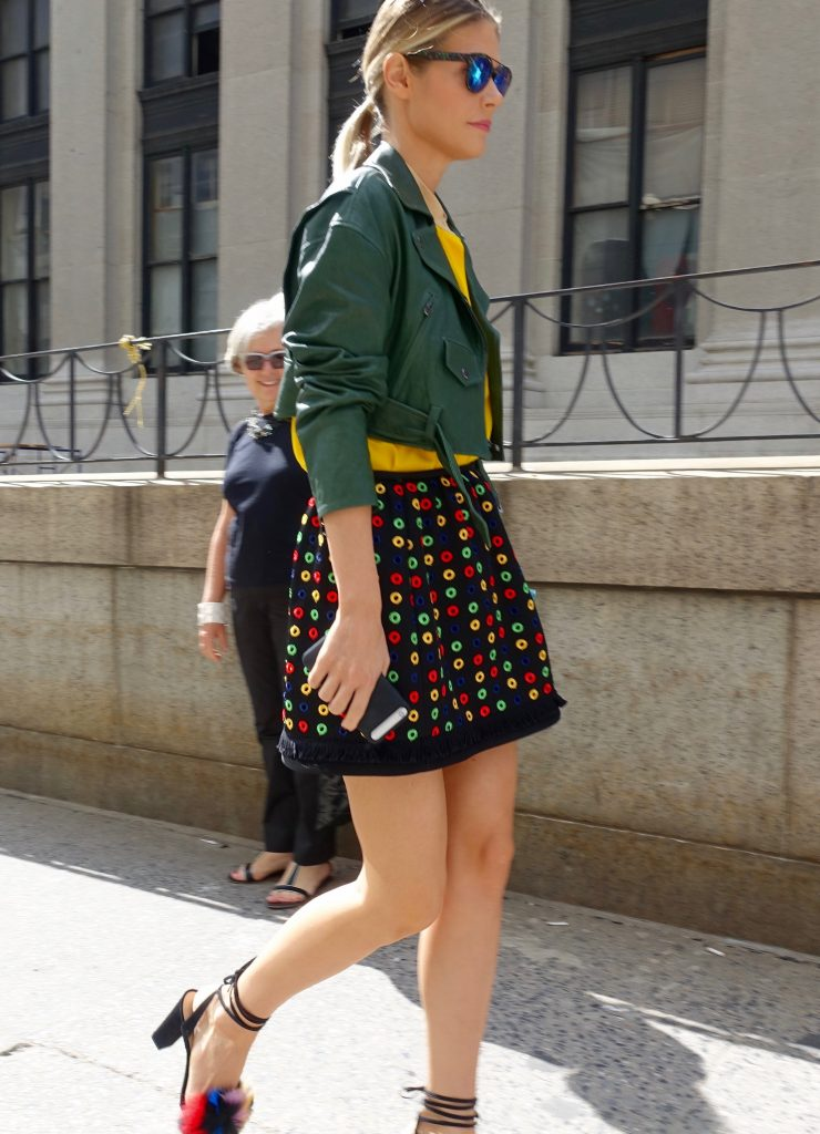 Brightly-colored NYFW street style