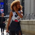 Mickey Mouse street style at the Jeremy Scott show
