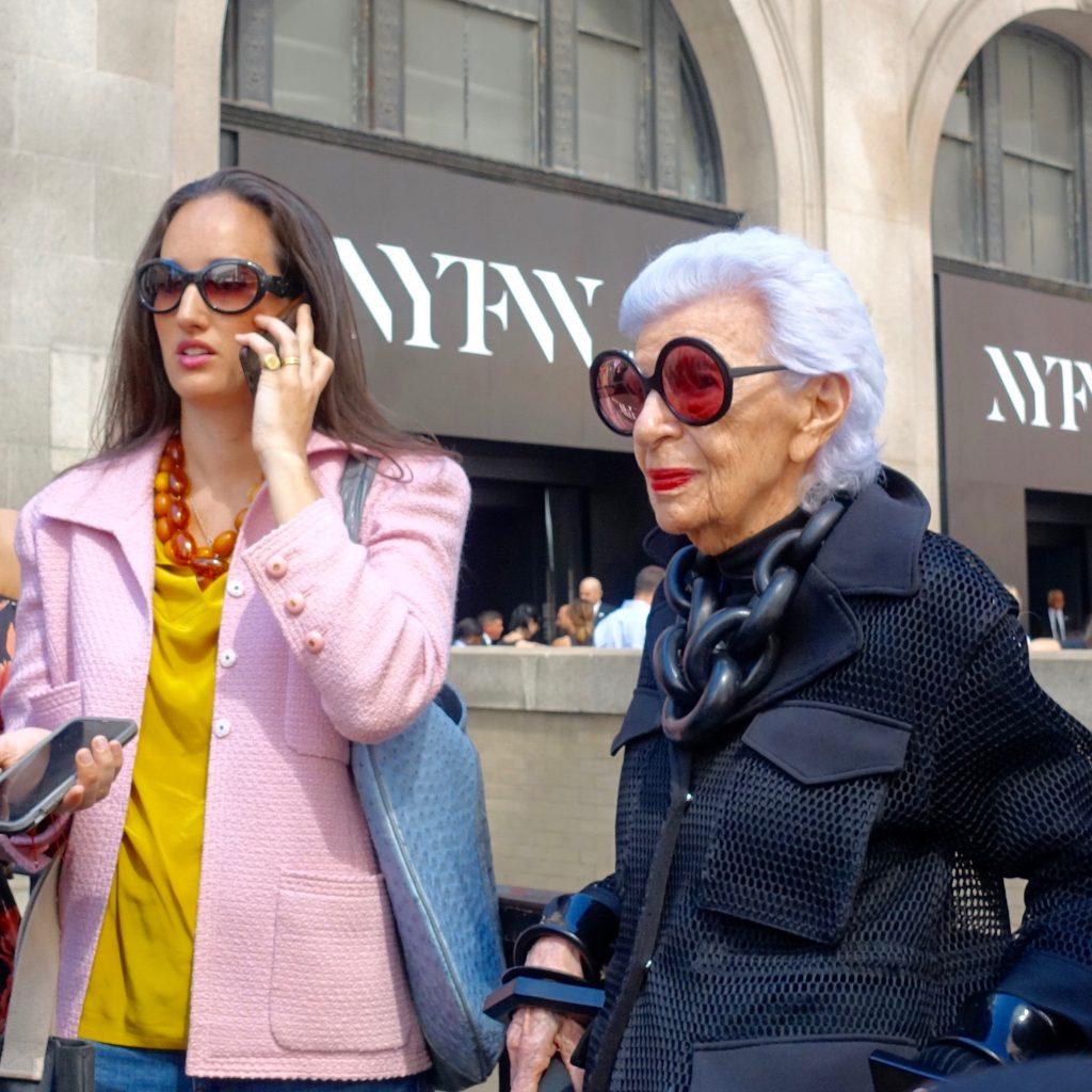 Iris Apfel at NYFW