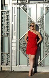 Red Valentino dress, Asian Art Museum