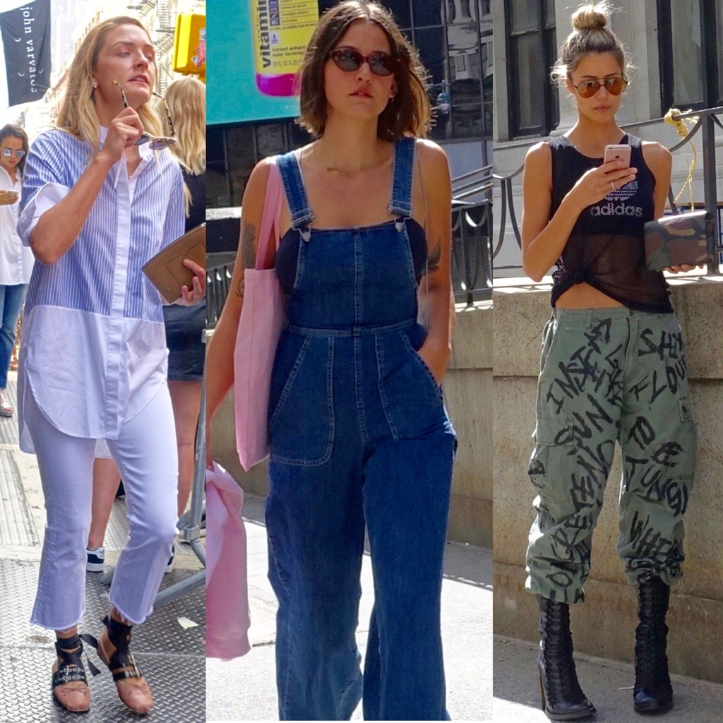 Three kinds of street style at NYFW