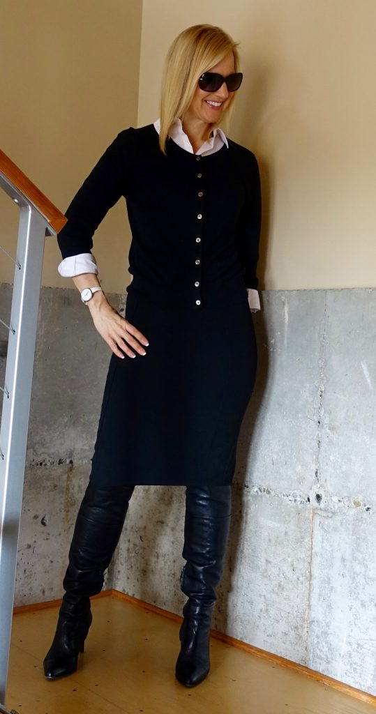 My over-the-knee boots work outfit