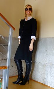 Work outfit with high boots