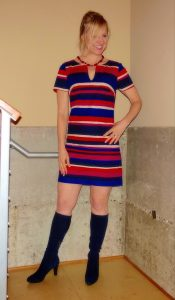 My dress with flattering stripes