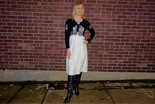 Black and white transitional outfit
