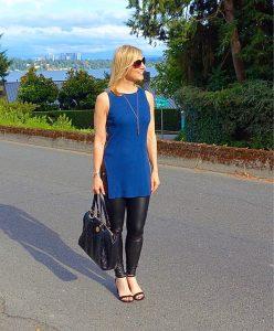 Leather leggings and heels #ootn