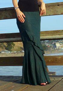 Ruffled mermaid skirt