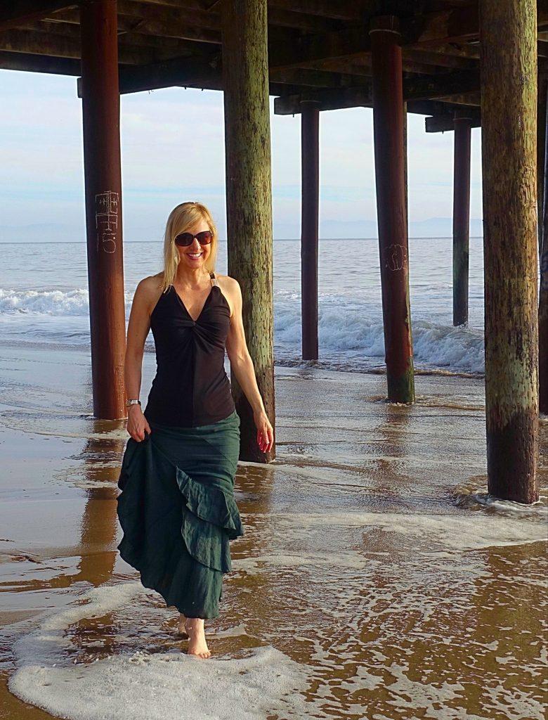 Running in a mermaid skirt