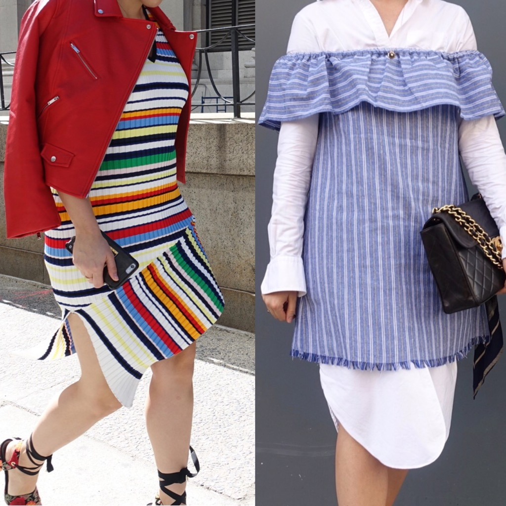 Unflattering striped dresses