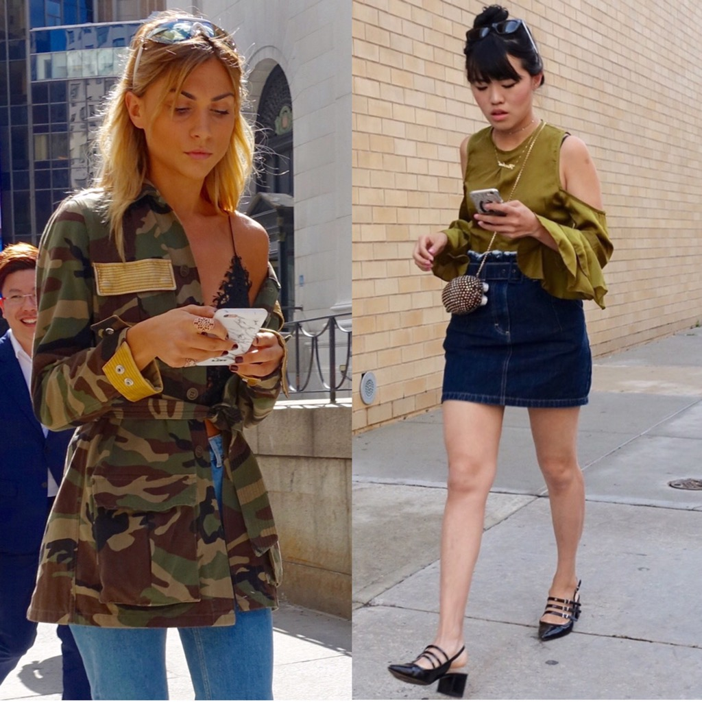 Army green street style