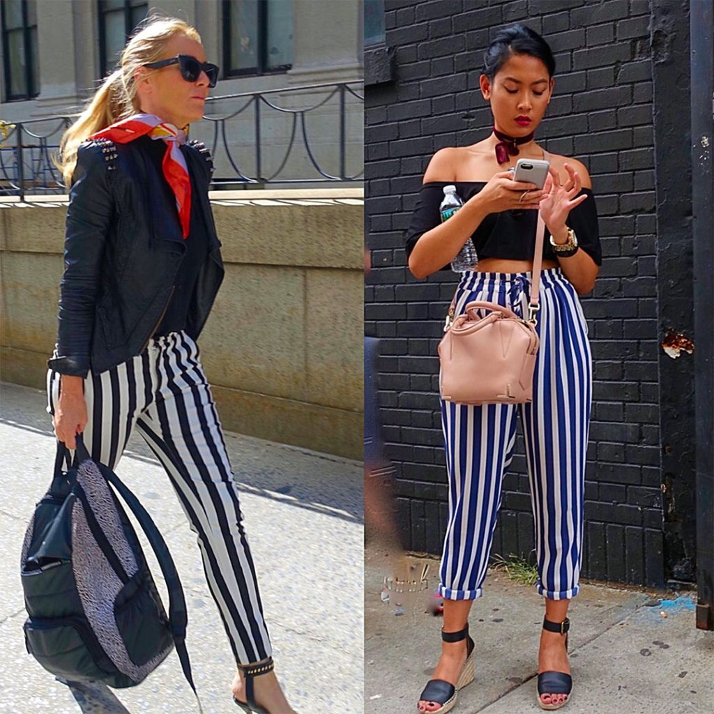Flattering vertical stripes (they elongate)