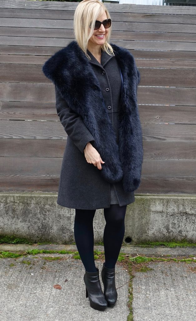 Make outerwear more stylish with a faux fur stole