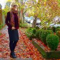 Fall-colored work outfit