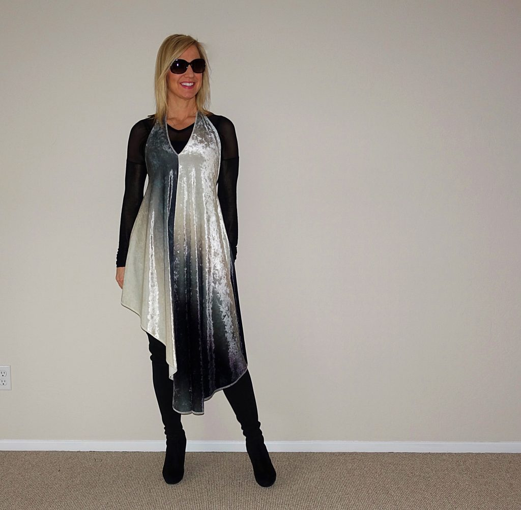 Richard Hallmarq NYE dress - styled for winter