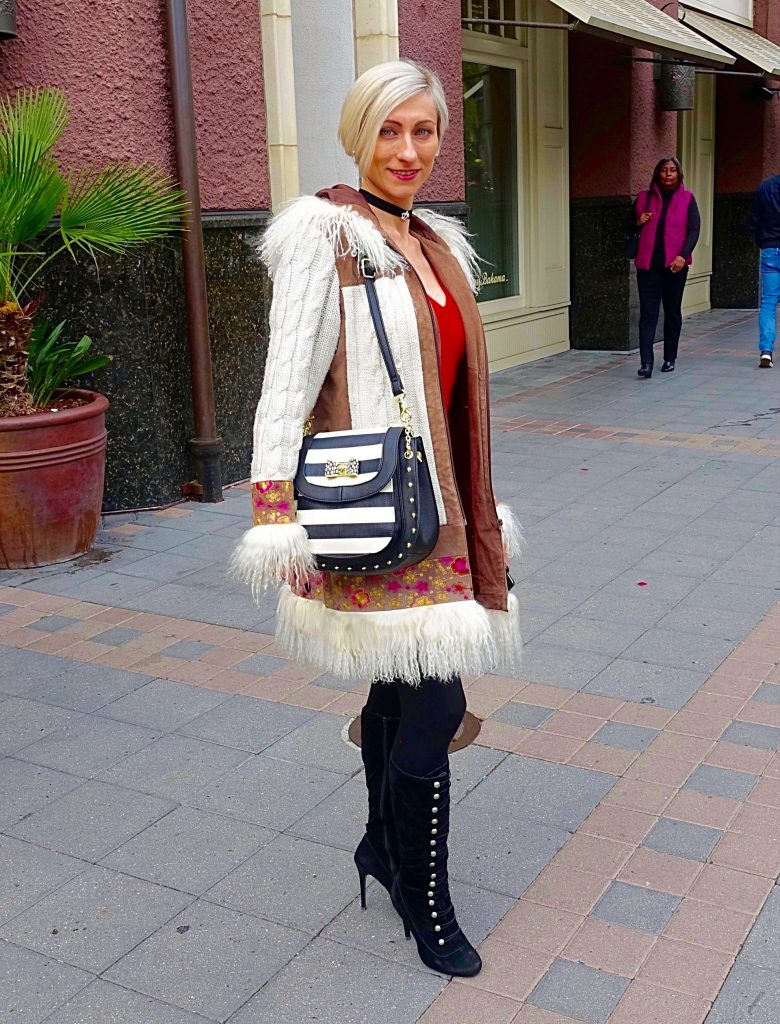 Holiday street style, Santana Row - Yulia
