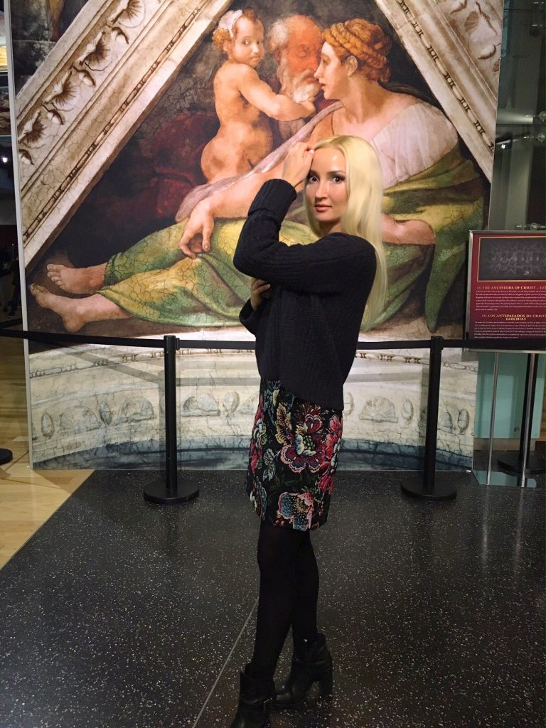Liliya's ootd for the Sistine Chapel exhibit