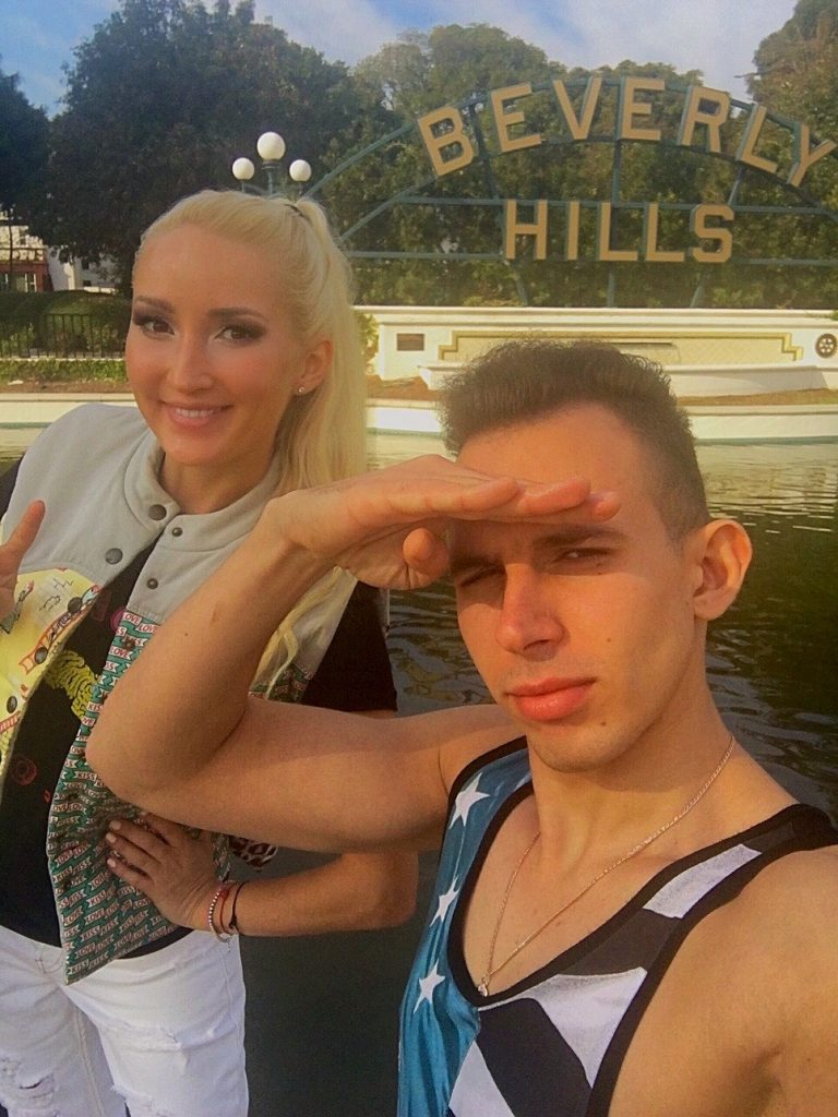 Hanging out with Kostya in Beverly Hills