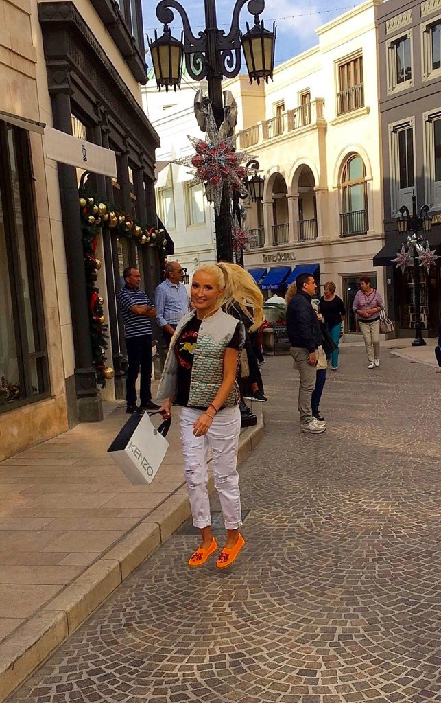 Liliya Anisimova's Kenzo look in Beverly Hills