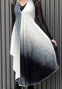 Richard Hallmarq dress - styled for winter