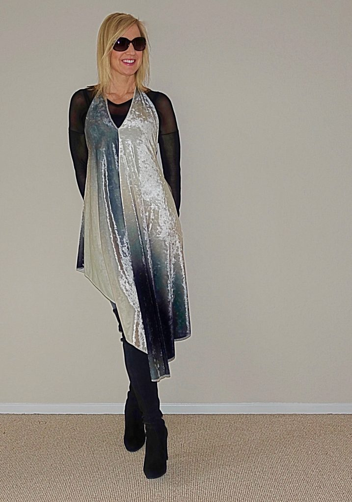 Richard Hallmarq dress for New Years Eve - styled for winter