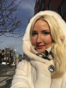 Liliya's fur coat look