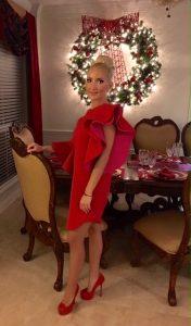 Liliya in a dress designed by Layana Aguilar