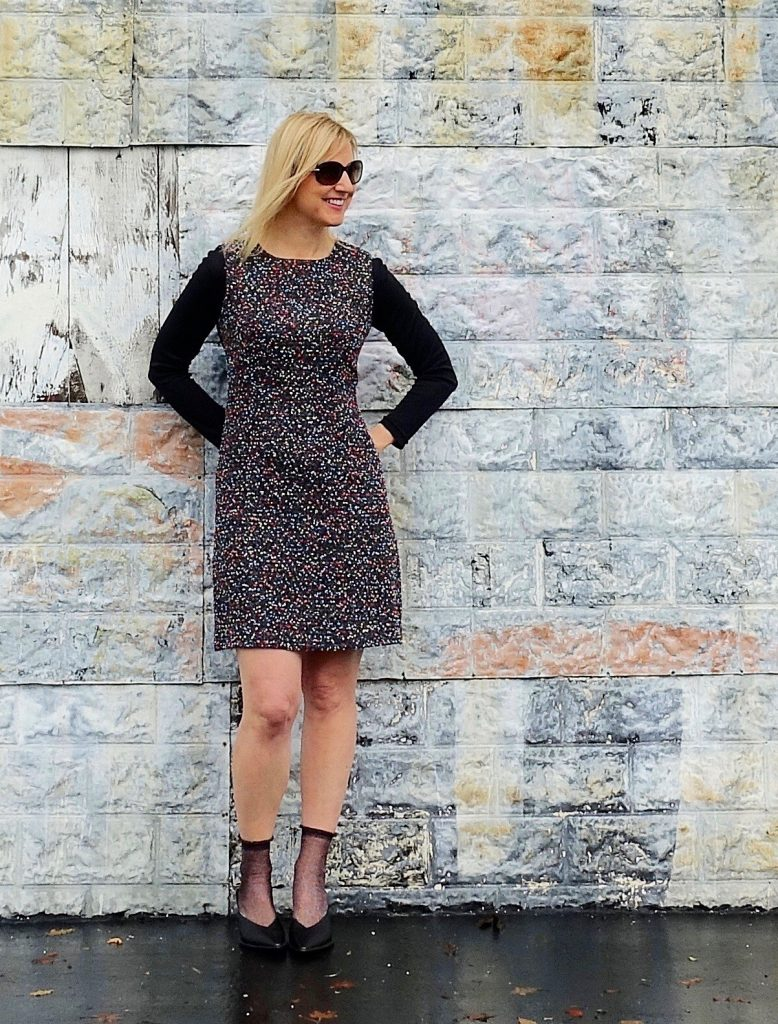 Wool dress with ankle socks