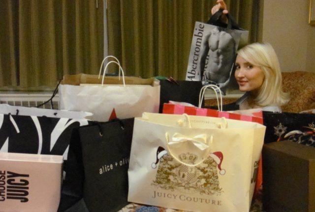 Liliya in shopping mode