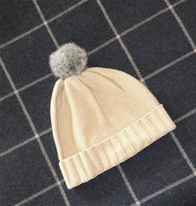 Winter Silks pom pom beanie