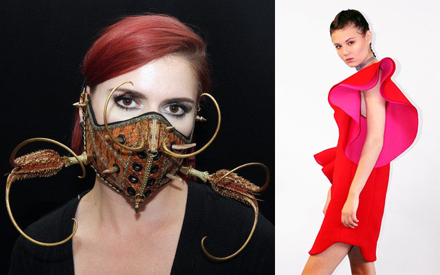 L.V.M. Mask and LAYANA AGUILAR dress