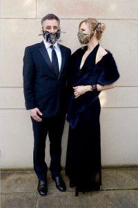 Posing in Lance Victor Moore masks
