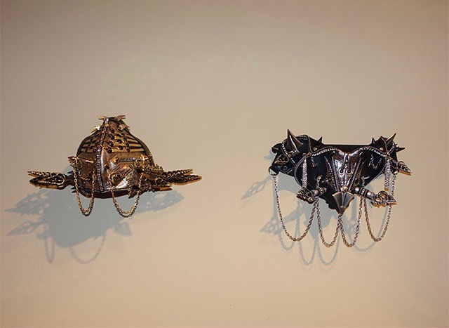 LVM masks displayed as art pieces