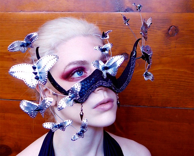 LVM butterfly mask, close-up