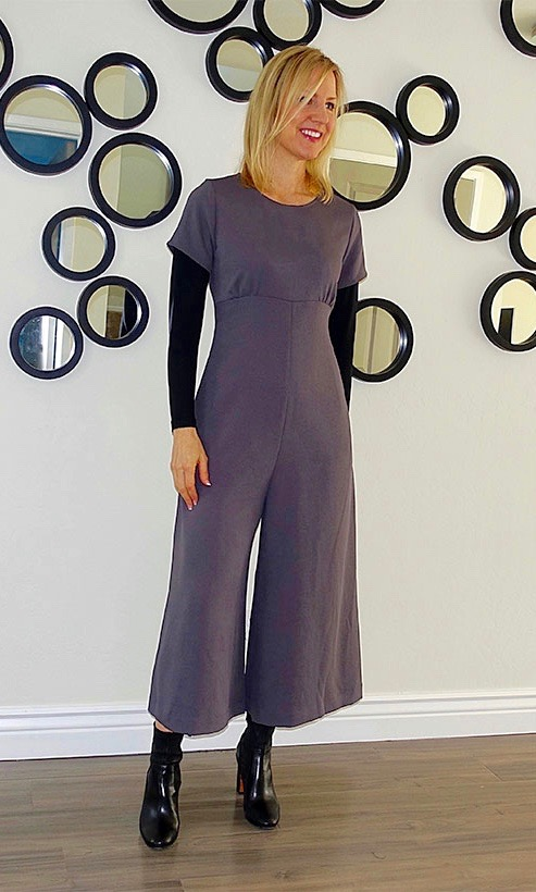 Cropped pantsuit