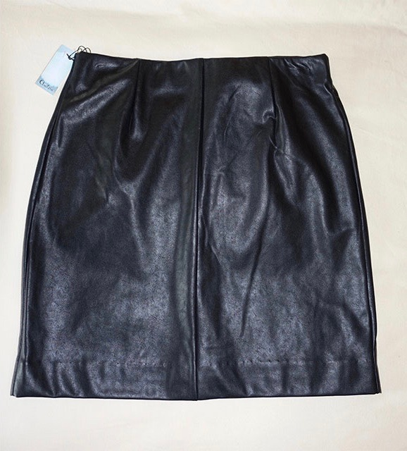 Faux leather skirt from Aritzia