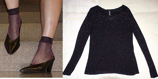 Sparkly socks to match sparkly sweater
