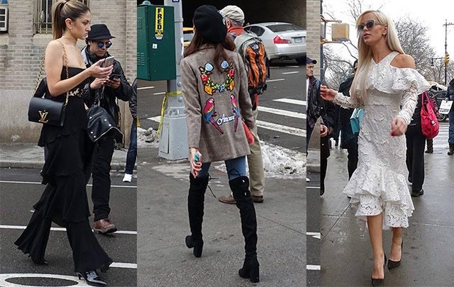 Valentine's Day outfit inspo from NYFW