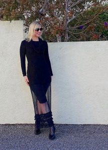 Sheer skirt outfit of the day