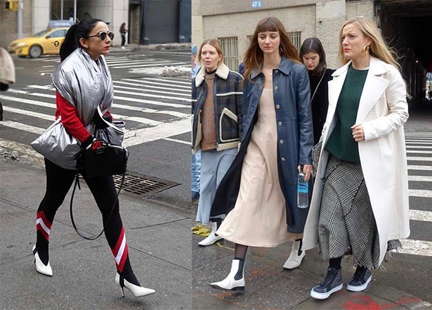 White shoes during NYFW