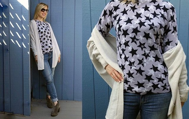 Starry sweater slider