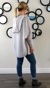 Back of double sweater OOTD
