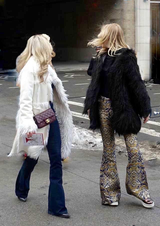 metallic pants and shoes