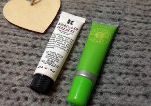 Kiehl's and L'Occitane lip balms
